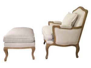 Restoration Hardware Marseilles Chair and Cabriole Ottoman