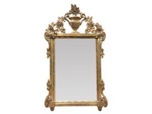 Louis J. Solomon Gold Leaf Beveled Mirror with Urn Detail