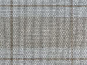 10 x 14 Flat Woven Neutral Plaid Wool Rug