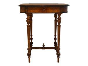 Vintage Burled Wood Sewing Stand